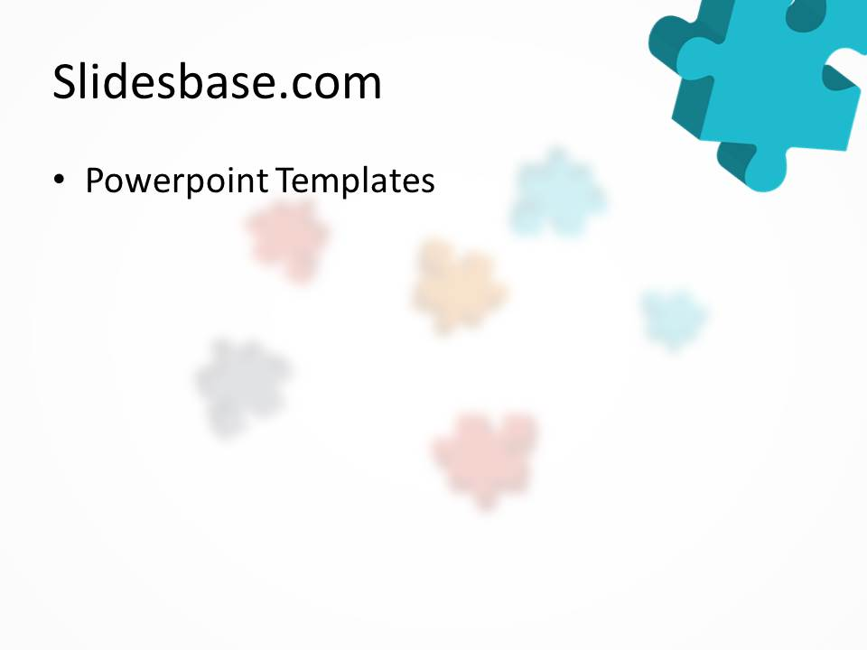 3d colorful puzzle powerpoint template
