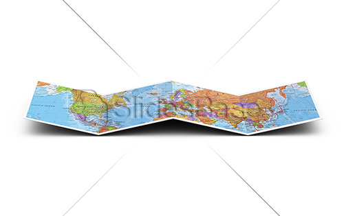 3D-folded-map-paper-stock-photo
