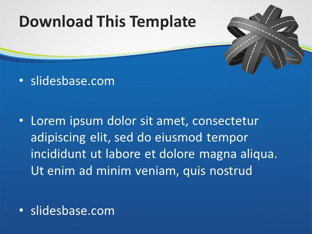 3d Road Transport Powerpoint Template Slidesbase
