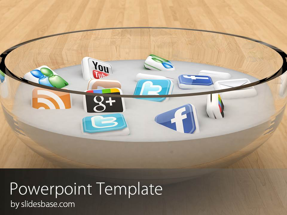 social media icons powerpoint template slidesbase