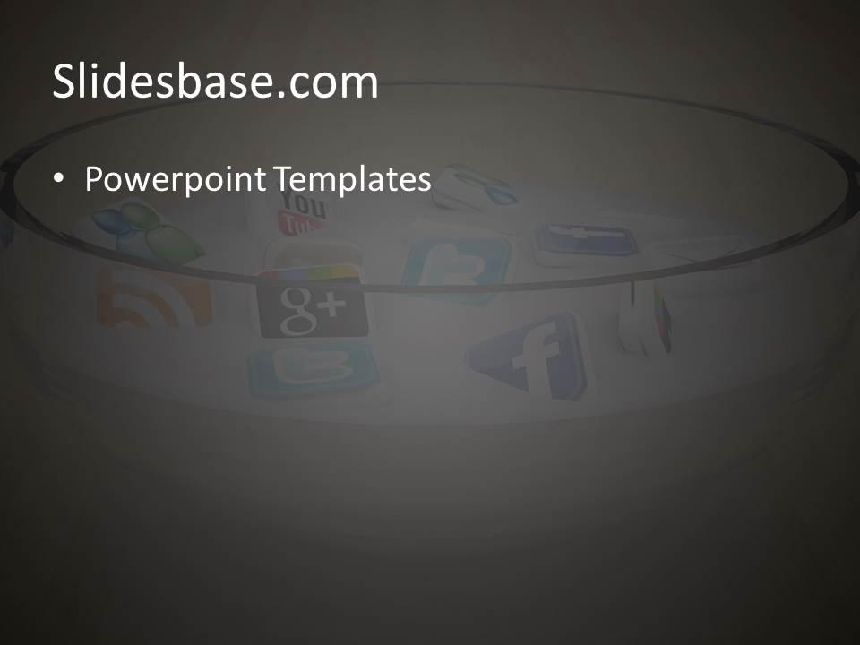 social media icons powerpoint template | slidesbase, Modern powerpoint