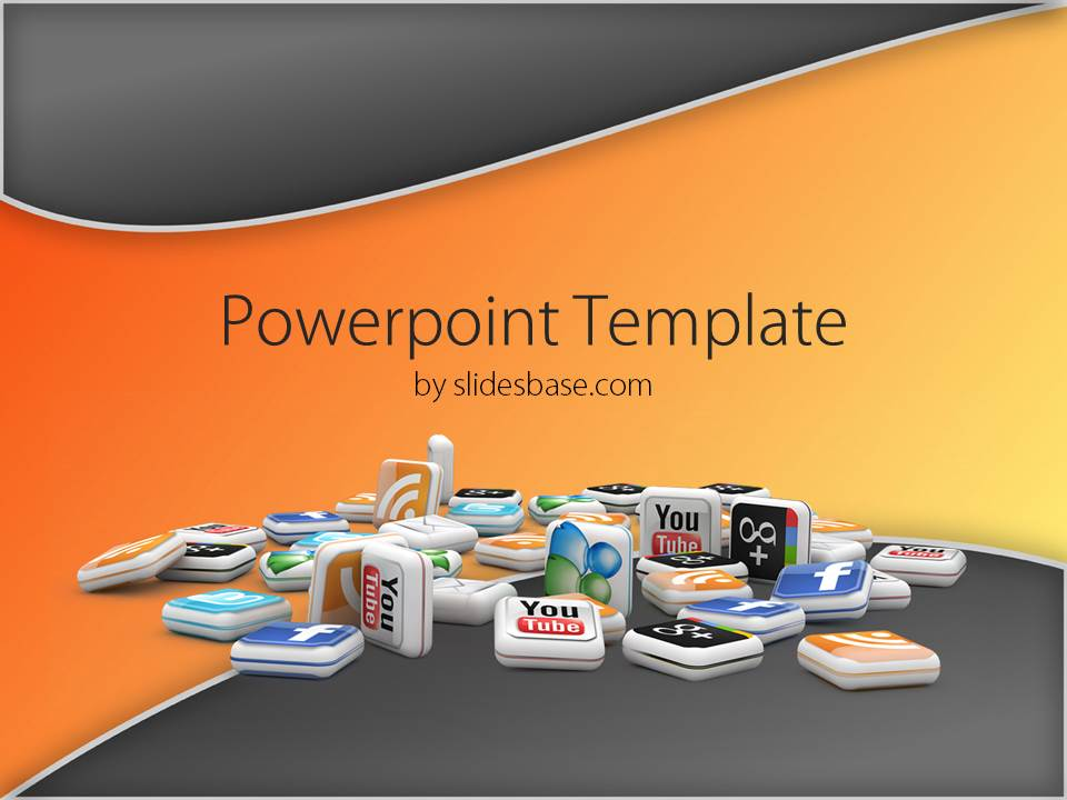 3d social media powerpoint template slidesbase toneelgroepblik Images