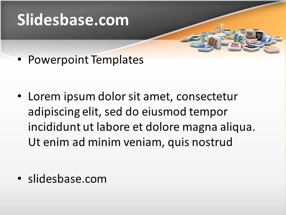 3d social media powerpoint template slidesbase toneelgroepblik Image collections