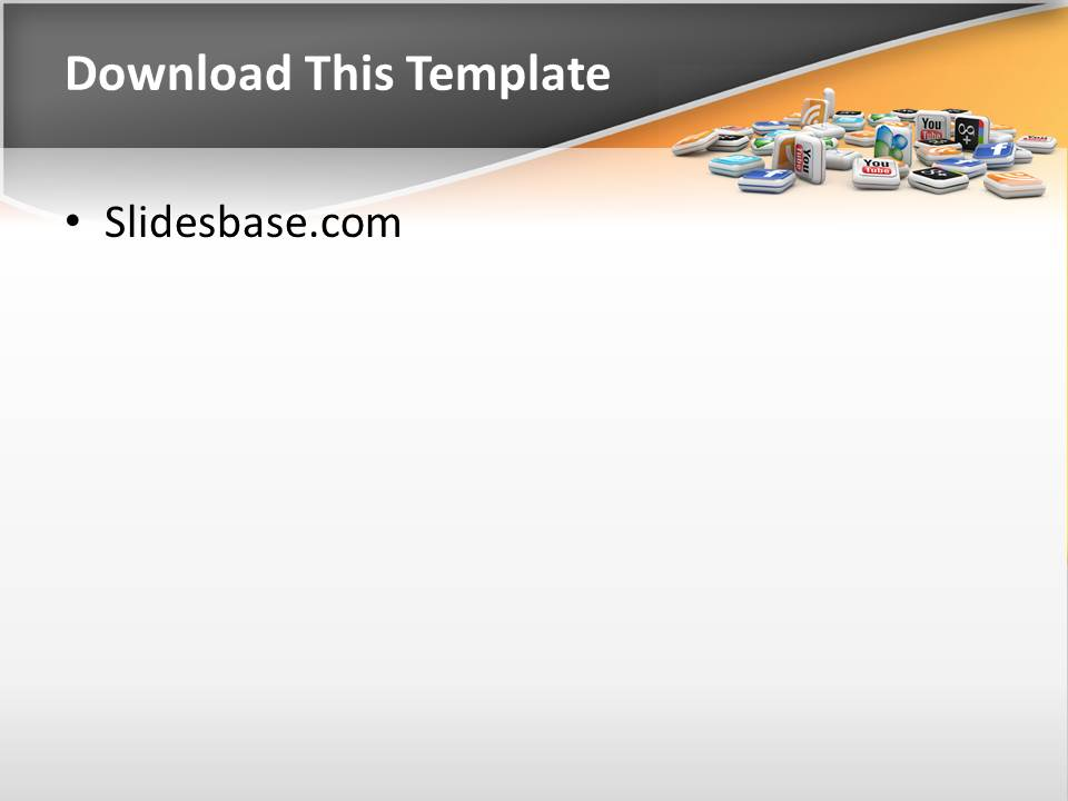 3D Social Media Powerpoint Template | Slidesbase