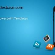 iphone social media powerpoint template slidesbase