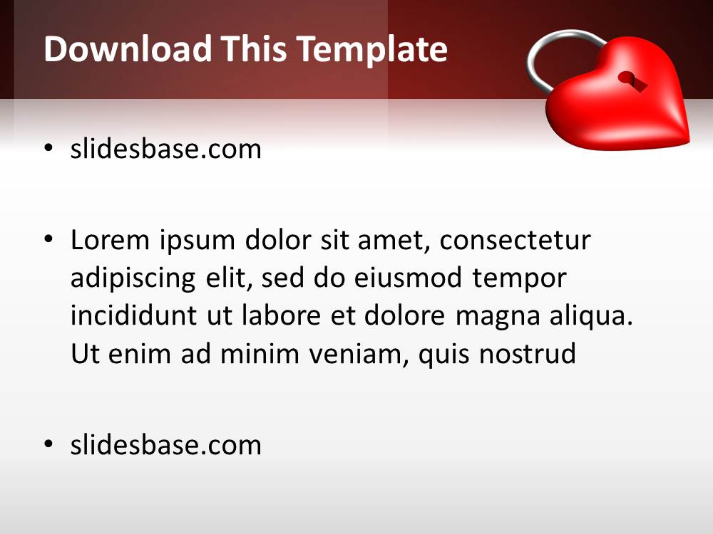 Locked red heart powerpoint template slidesbase locked red heart powerpoint template toneelgroepblik Image collections