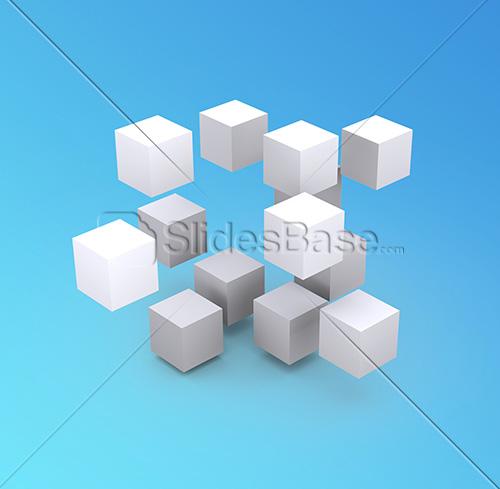 3D-white-squares-blue-gradient-background-stock