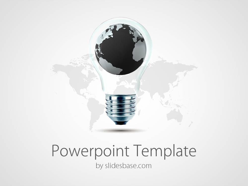 world of ideas powerpoint template | slidesbase, Modern powerpoint
