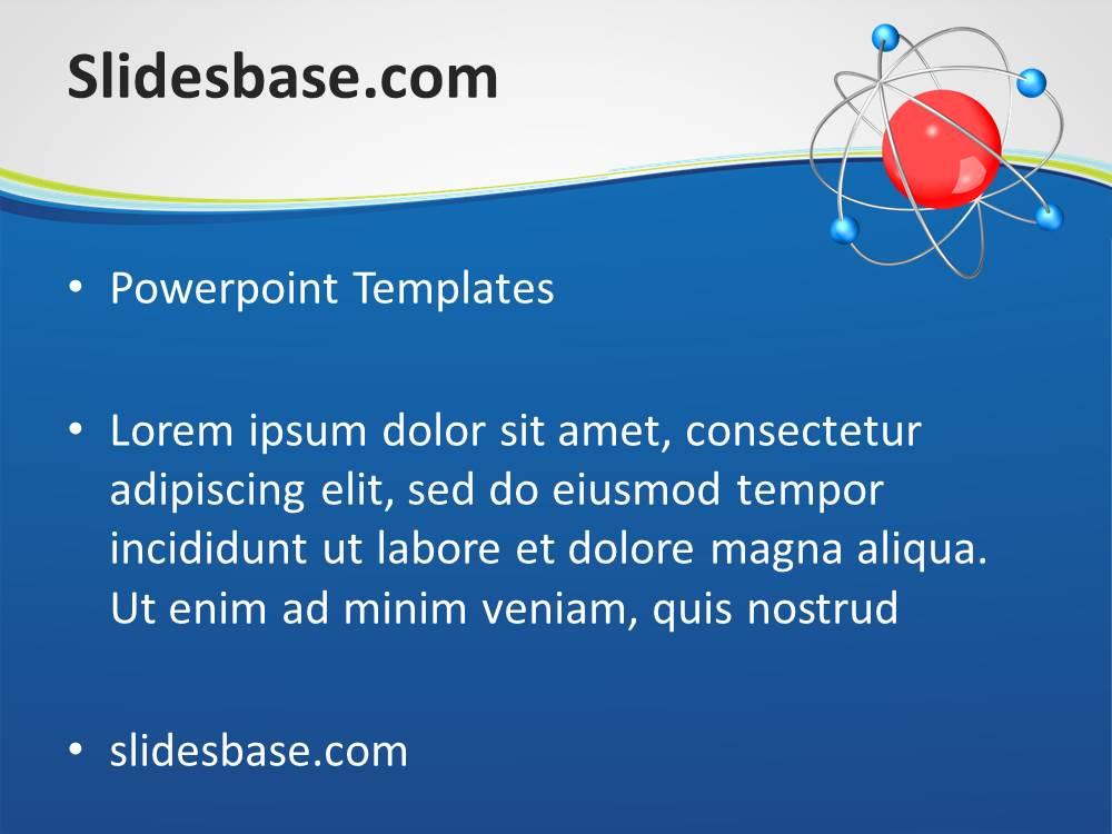 3d atom powerpoint template slidesbase 3d atom chemistry science molecular physics neutron proton toneelgroepblik Gallery