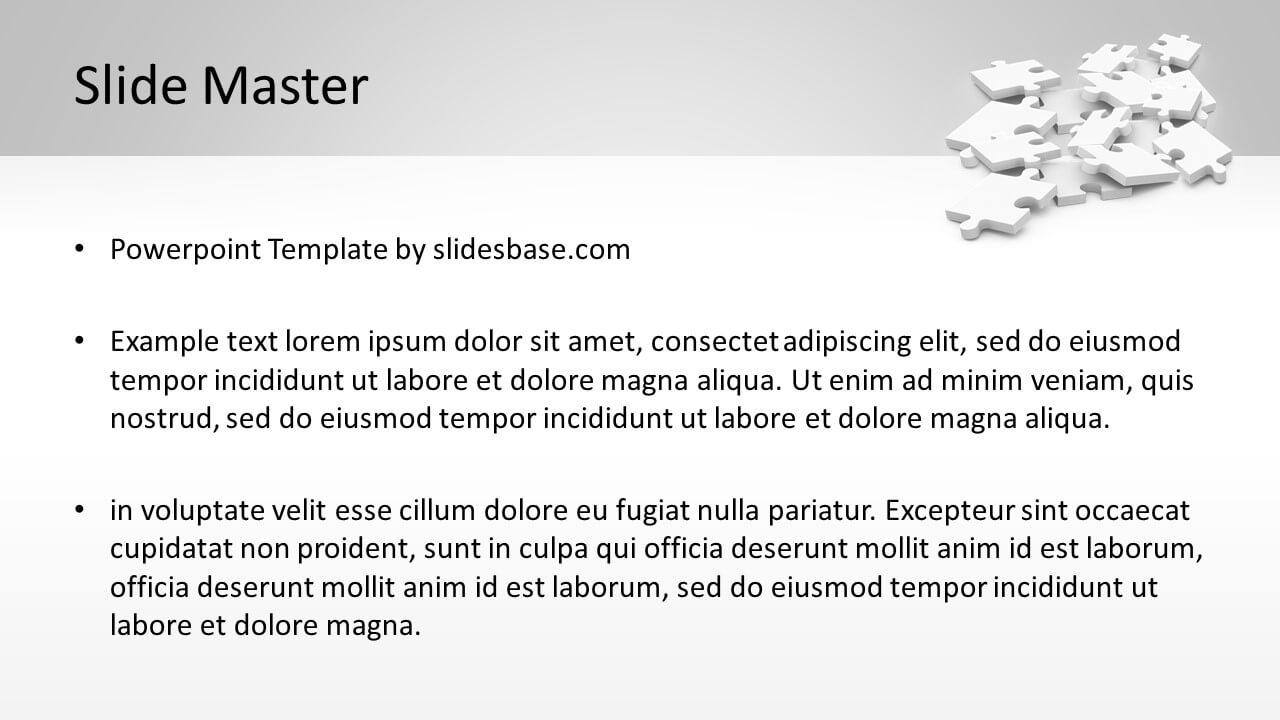 Businessman Solve Puzzle Powerpoint Template Slidesbase