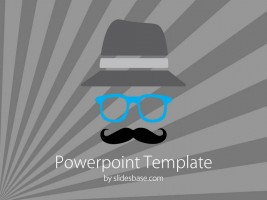 Slide1movember-november-mustache-gray-classes-blue-hat-powerpoint-template