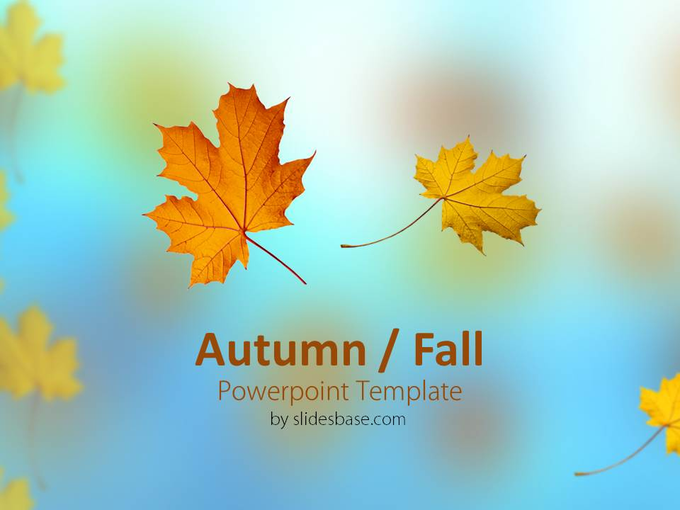 Autumn fall powerpoint template slidesbase autmun fall leavs colors red yellow seasons powerpoint toneelgroepblik Choice Image
