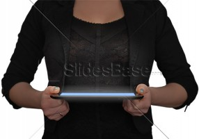 black-dressed-businesswoman-holding-black-ipad-tablet-computer-png-background