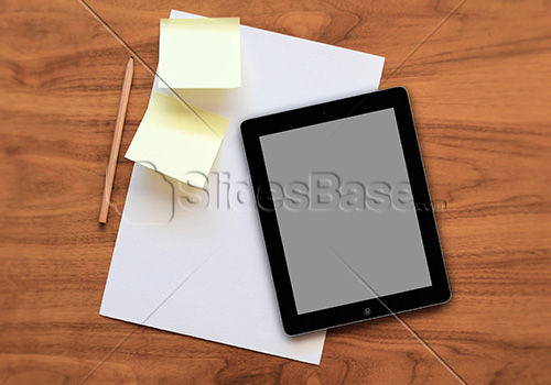 black-ipad-tablet-computer-and-papers-sticky-notes-abckground