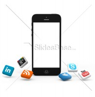 black-iphone-3d-social-media-icons-stock-png