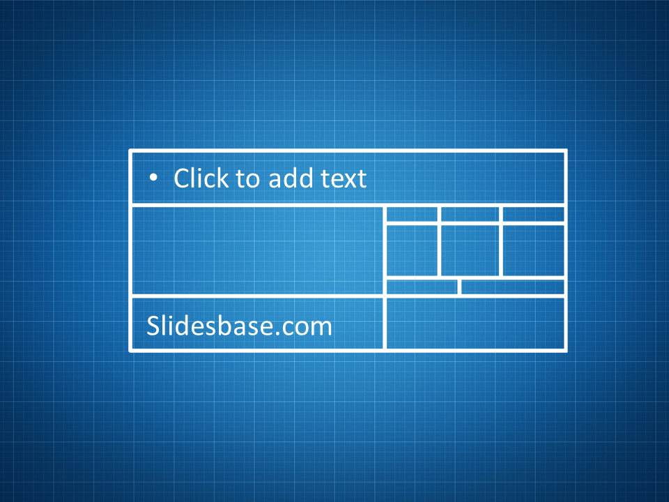blueprint sketch drawing powerpoint template