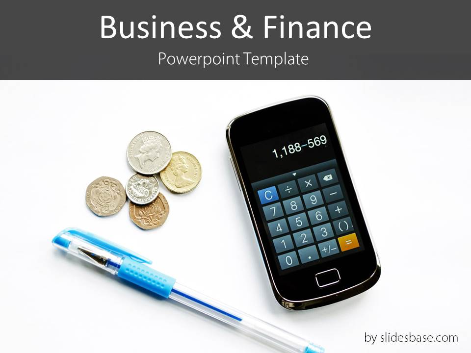 Business finance free powerpoint template slidesbase business finance accounting pencil smartphone powerpoint template calculcator toneelgroepblik Images