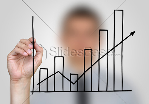 businessman-drawing-sketching-bar-graph-to-screen-background