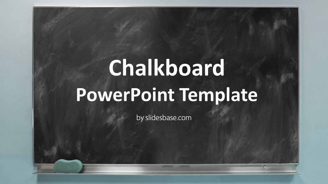 Blackboard Chalkboard Point Template Slidesbase