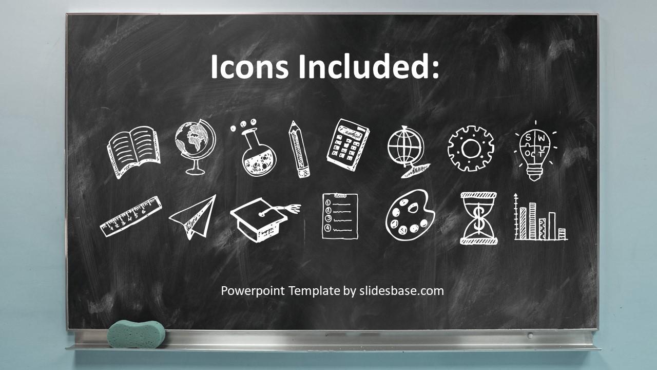 Classroom Chalkboard Ideas ~ Blackboard chalkboard powerpoint template slidesbase