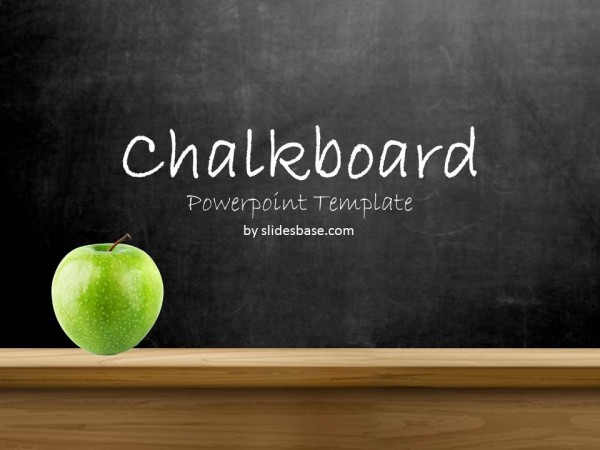 blackboard chalkboard powerpoint template slidesbase. Black Bedroom Furniture Sets. Home Design Ideas