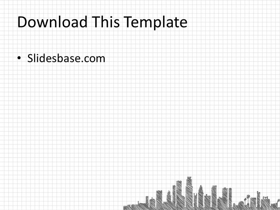 Sketch a City PowerPoint Template | Slidesbase