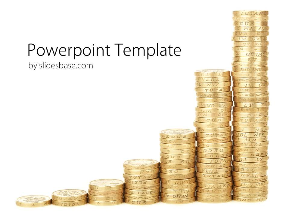 Coins graph powerpoint template slidesbase coins graph powerpoint template toneelgroepblik Choice Image