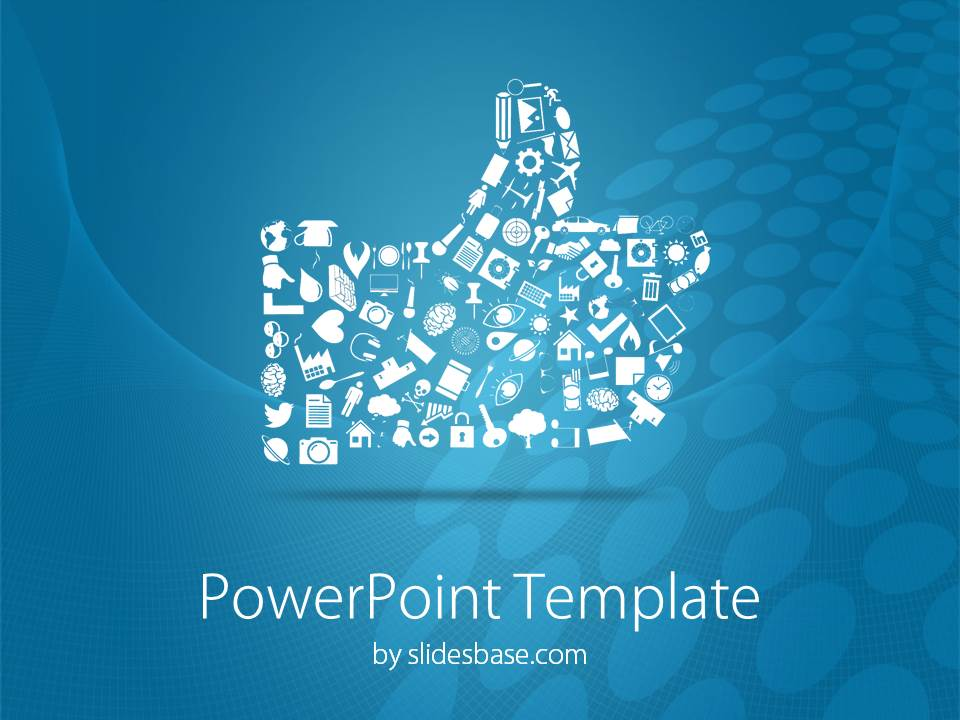 social media like button powerpoint template | slidesbase, Modern powerpoint