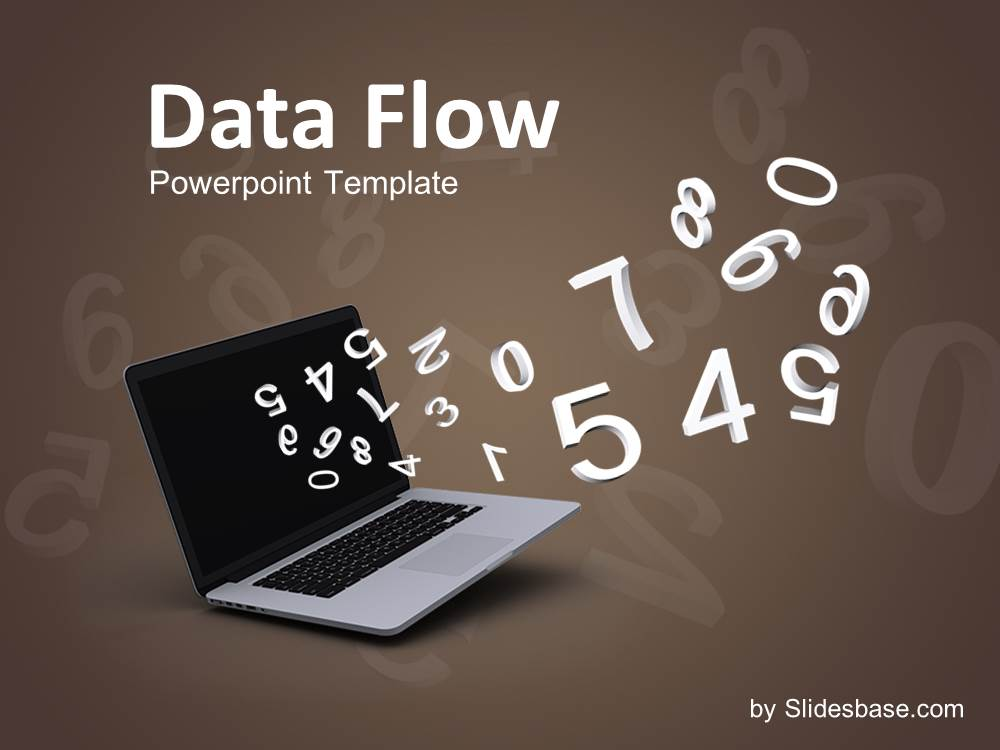Data flow powerpoint template slidesbase data flow 3d numbers laptop analytical math science toneelgroepblik Choice Image