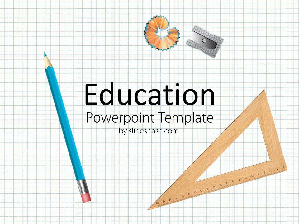 Educational powerpoint template slidesbase education school checkered paper pencil ruler sticky notes toneelgroepblik Image collections