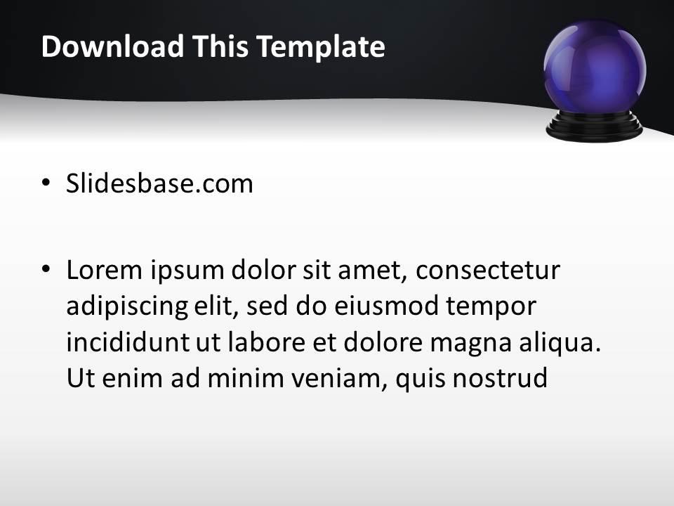 Fortune teller powerpoint template slidesbase fortune teller magician crystal ball chipsy hands future toneelgroepblik Images