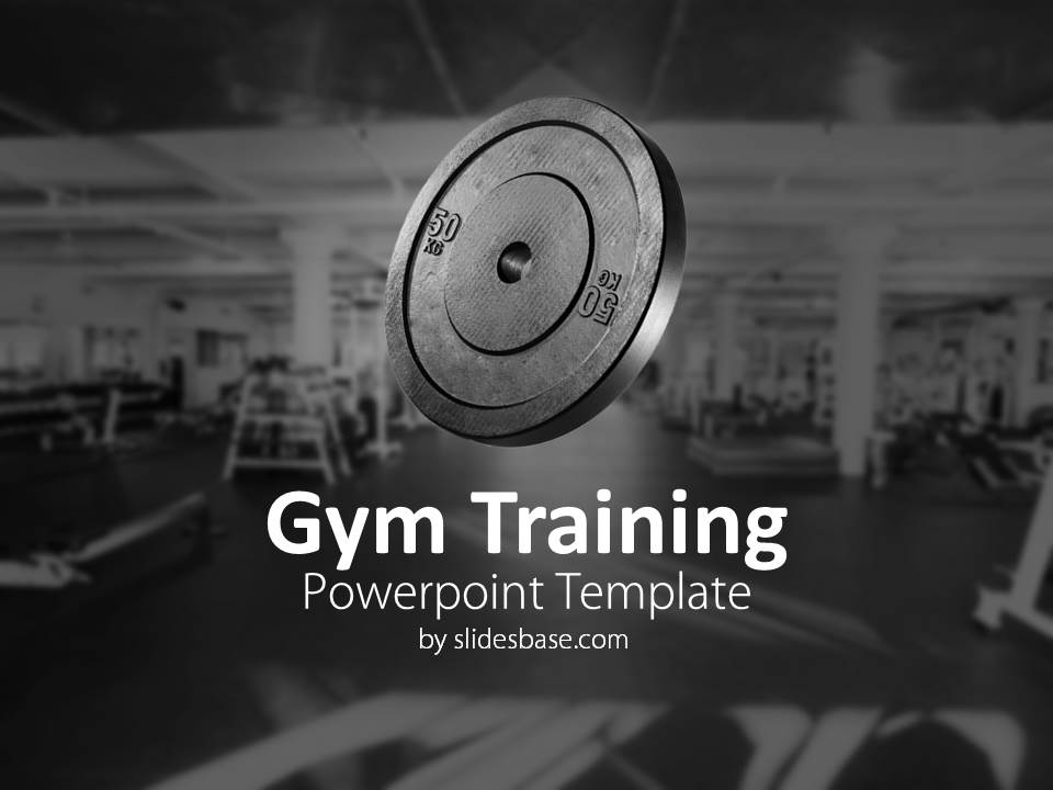 Gym training powerpoint template slidesbase gym training workout fitness bodybuilding weights lifting powerpoint toneelgroepblik Images