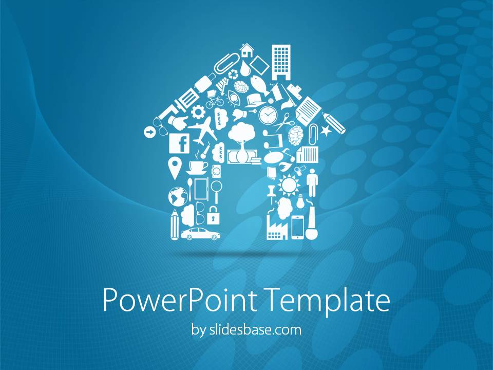 house shape powerpoint template | slidesbase, Modern powerpoint