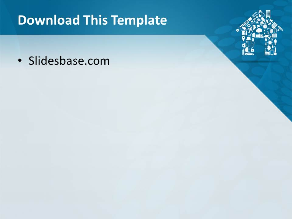 House shape powerpoint template slidesbase house home real estate agent sell buy house toneelgroepblik