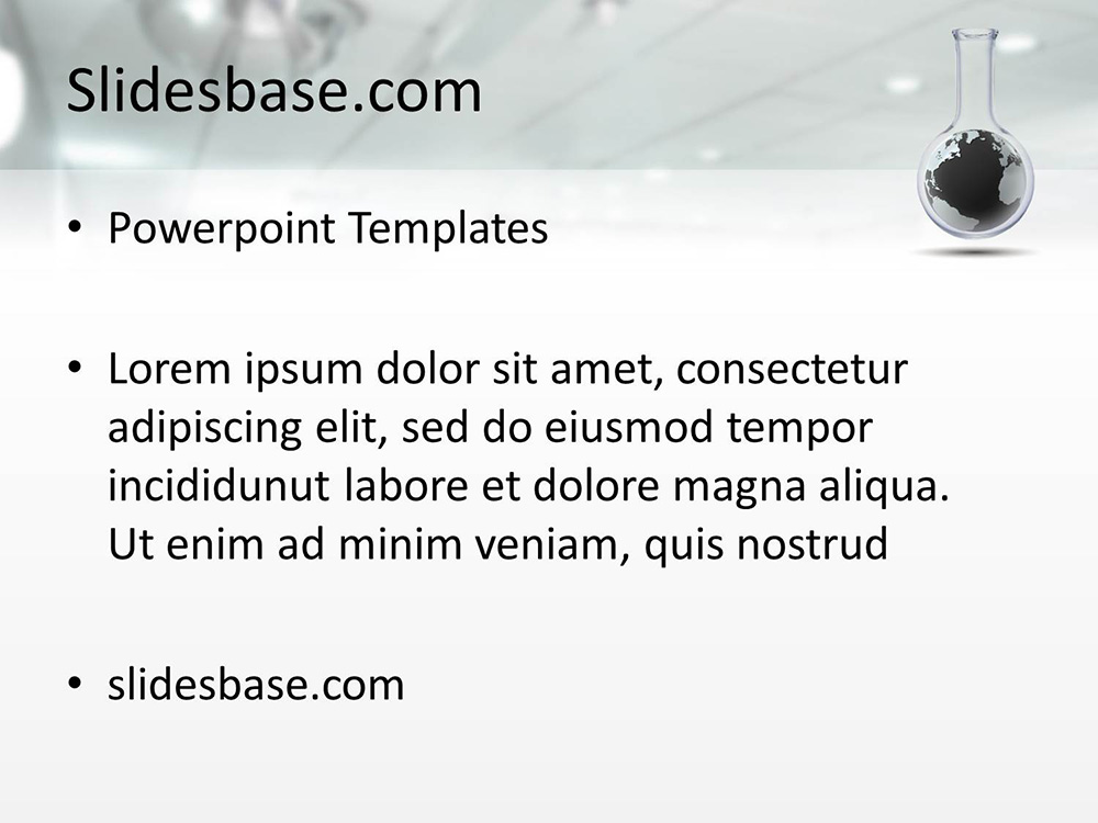 Idea research powerpoint template slidesbase idea research lab world 3d medical chemistry science toneelgroepblik Image collections