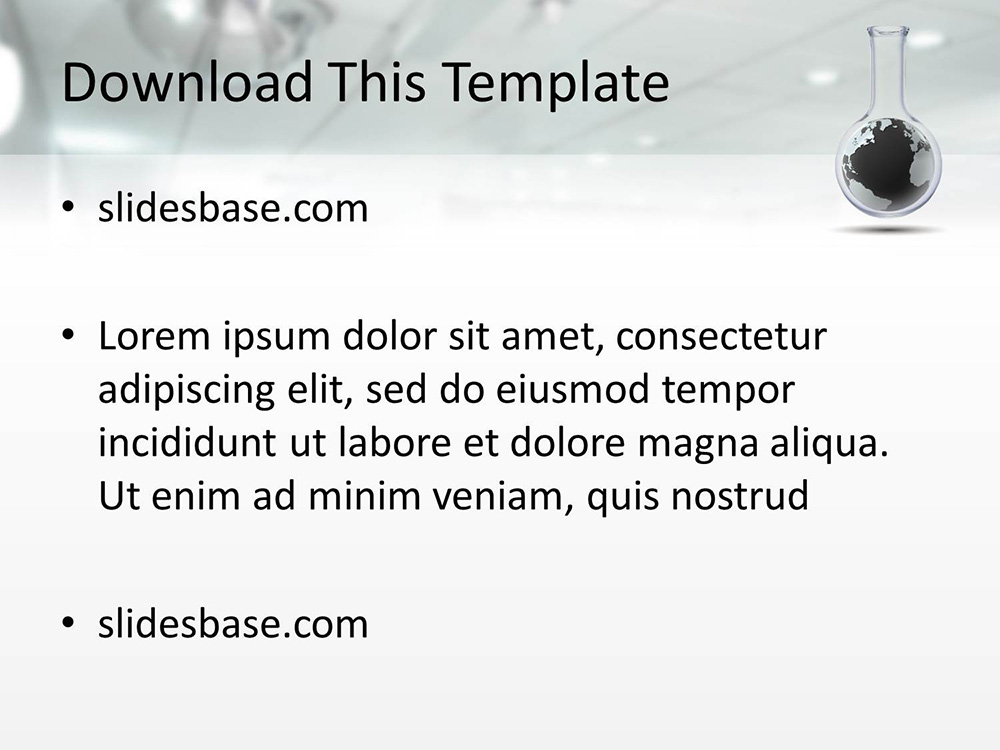 Idea research powerpoint template slidesbase idea research lab world 3d medical chemistry science toneelgroepblik Images