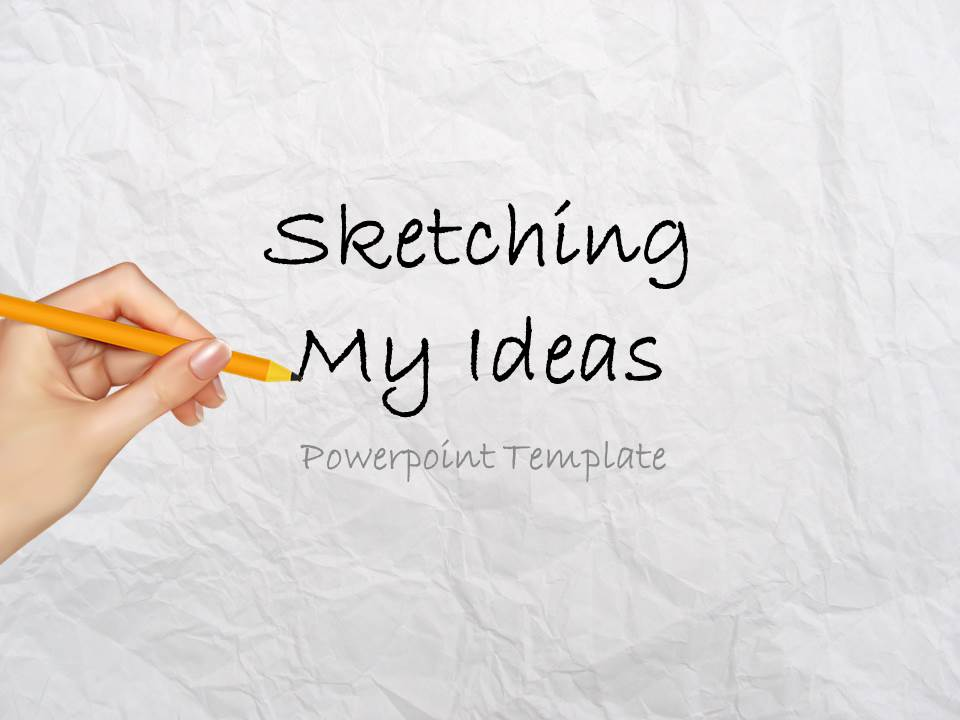Sketching Ideas Powerpoint Template Slidesbase