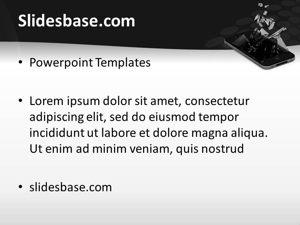 Broken iphone powerpoint template slidesbase iphone broken screen seo mobile smartphone apps touchscreen toneelgroepblik Image collections