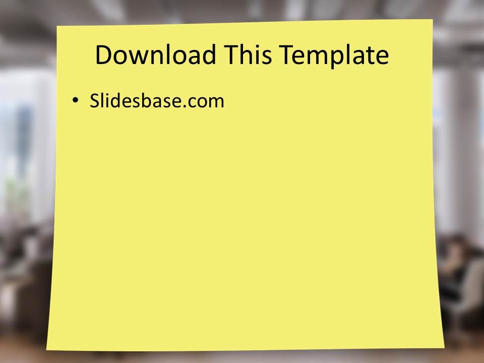 laptop post it notes powerpoint template slidesbase