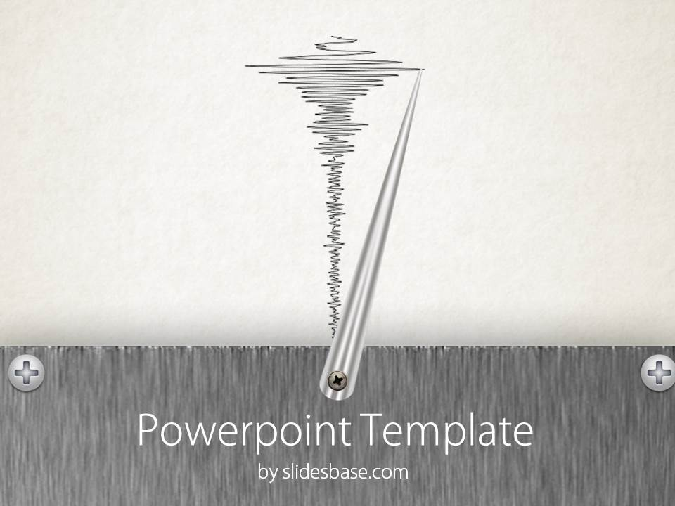 Lie Detector Seismograph Polygraph Needle Powerpoint Template Slide1