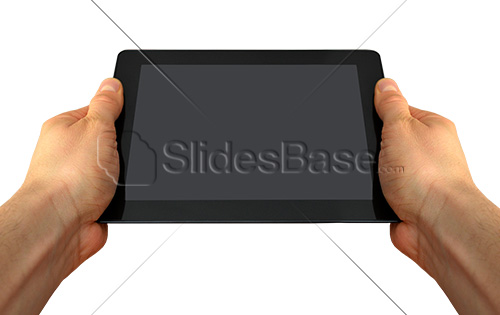 man-holding-black-tablet-computer-ipad-in-hand-PNG-stock