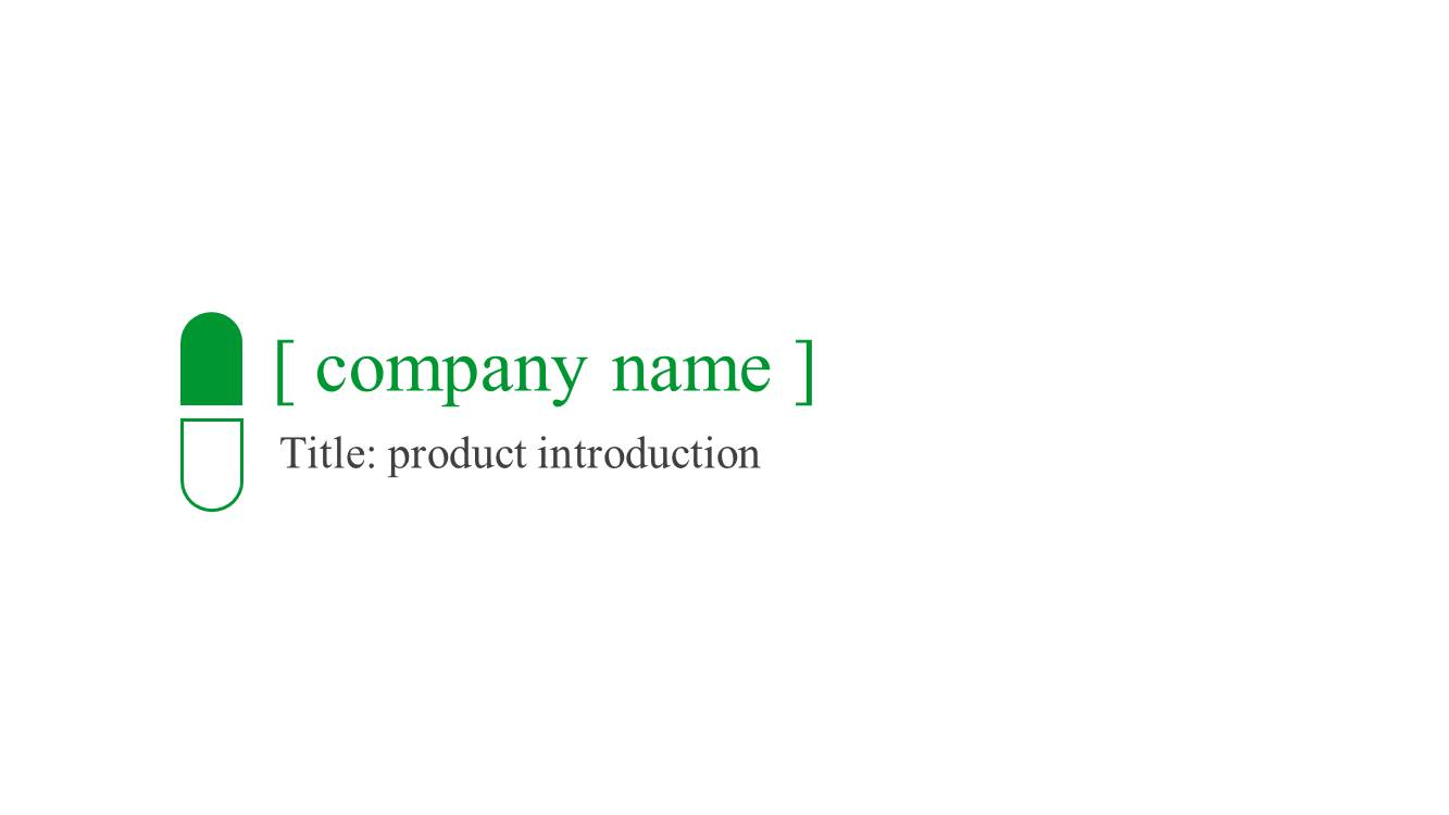 medical product introduction powerpoint template