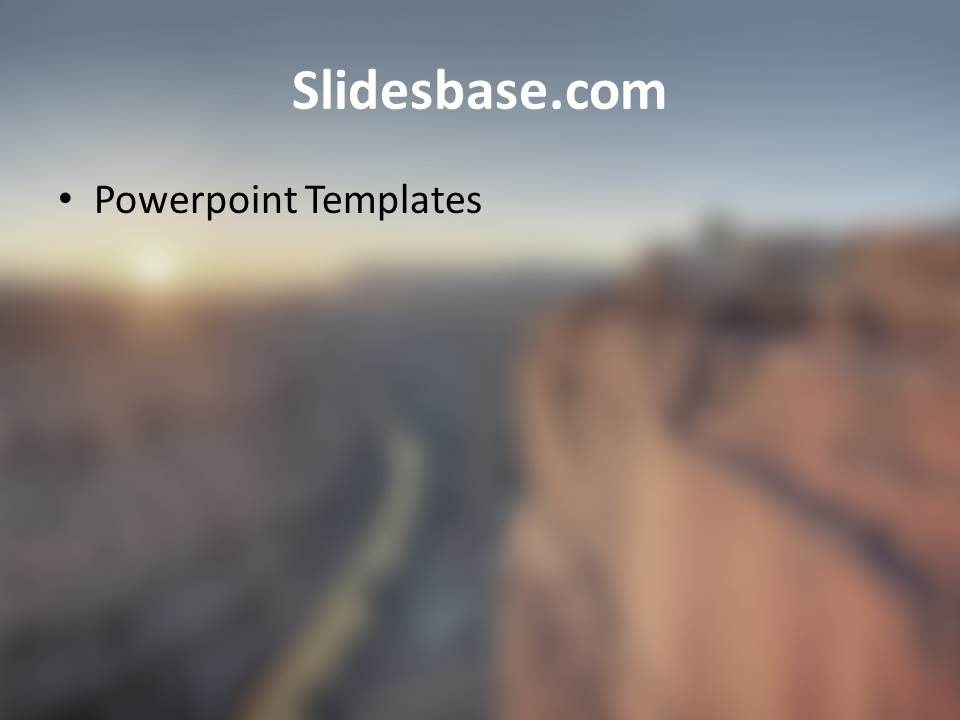 On the Edge Powerpoint Template