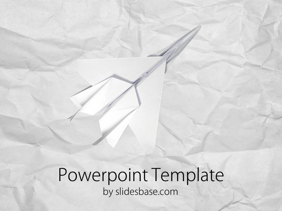 paper plane airstrike powerpoint template | slidesbase, Modern powerpoint