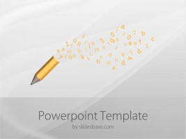 Online education powerpoint template slidesbase pencil letters powerpoint template toneelgroepblik Gallery