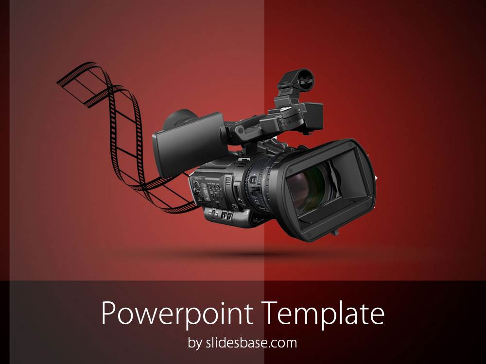 Video camera powerpoint template slidesbase professional video camera recorder filmmaking movie editing powerpoint toneelgroepblik