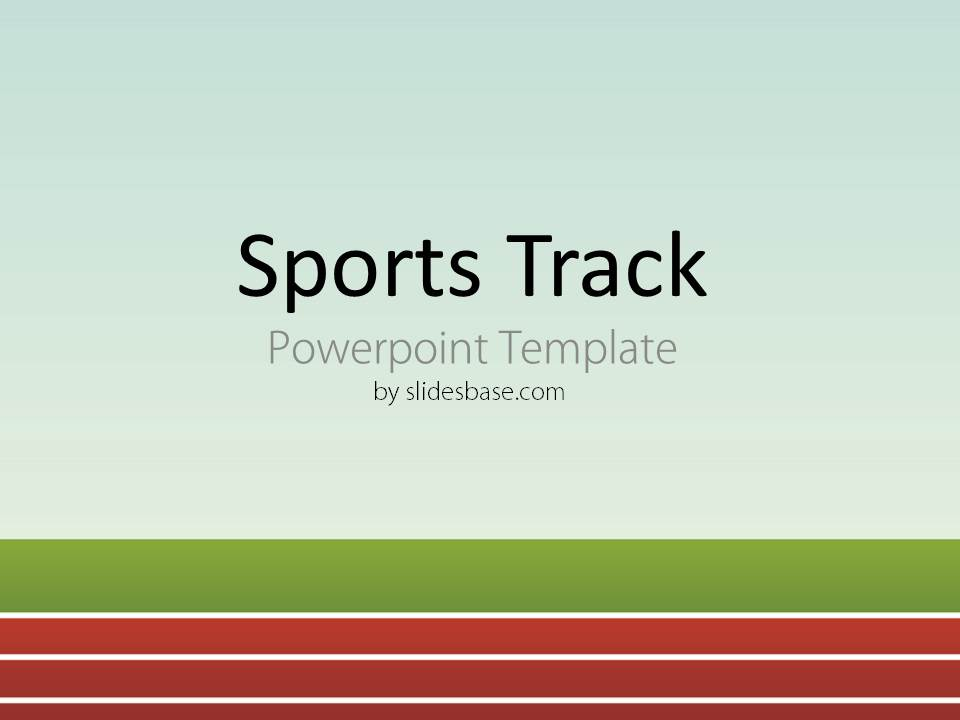 sports track powerpoint template | slidesbase, Presentation templates