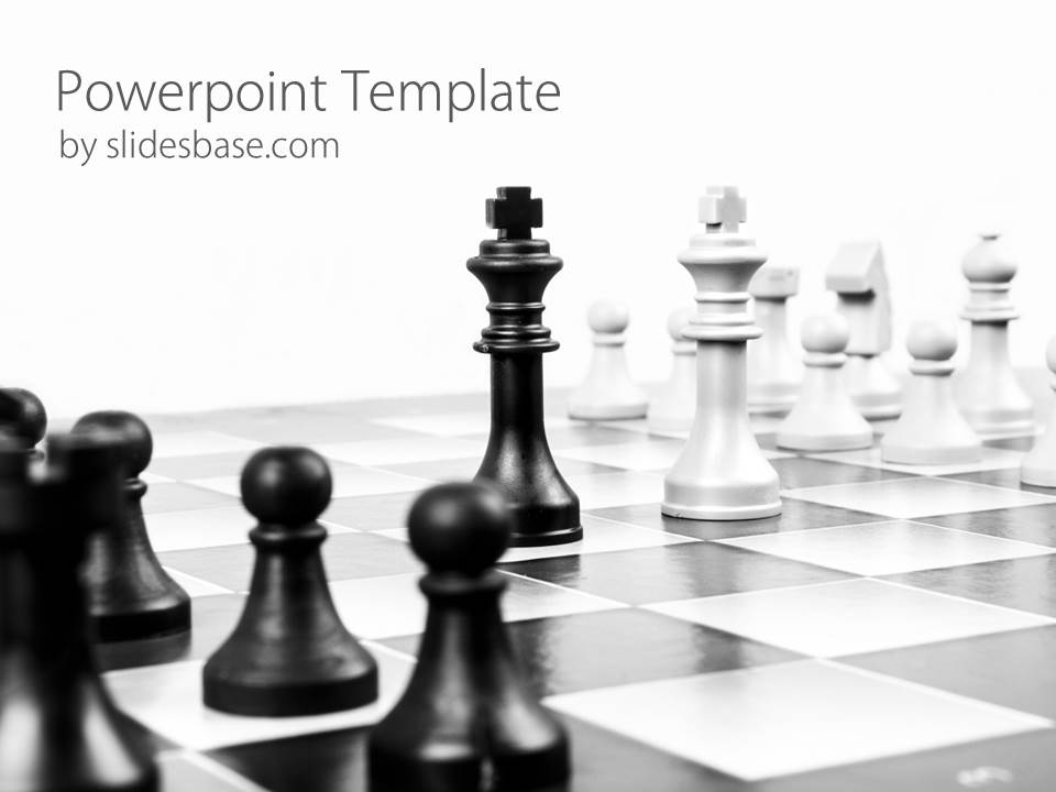 Strategy powerpoint template slidesbase strategy chess game powerpoint template slide1 1 toneelgroepblik Choice Image