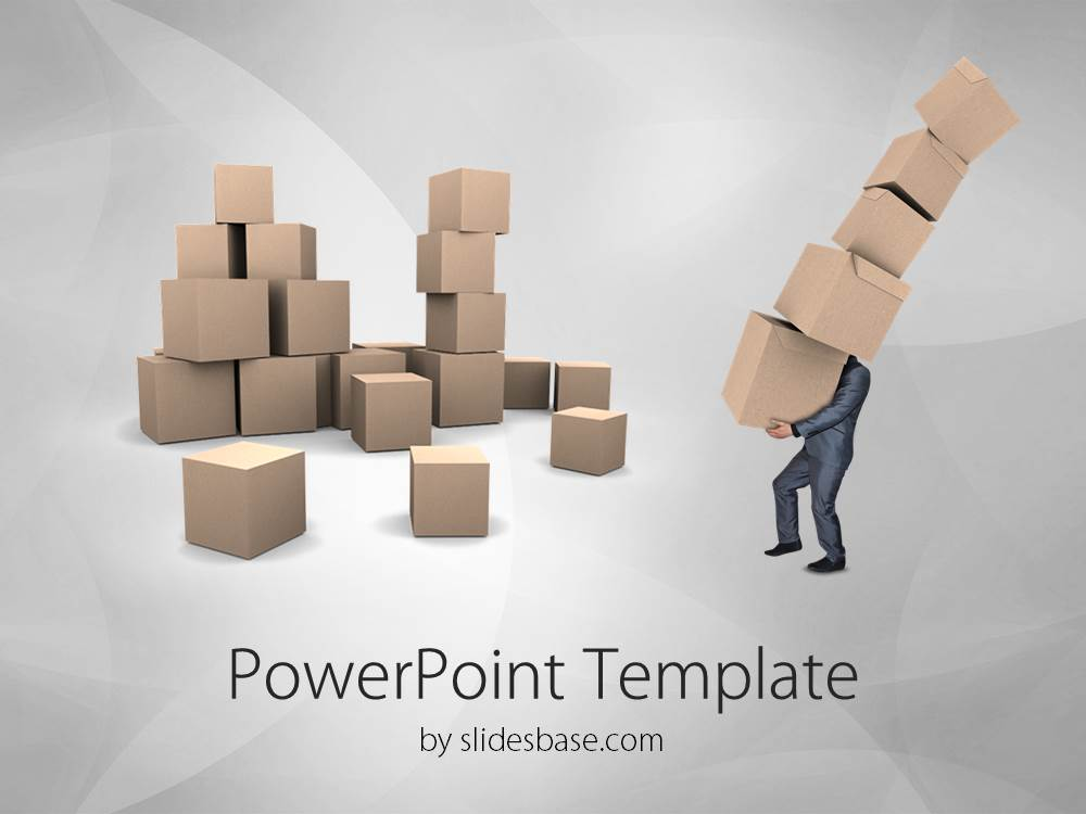 Delivery and transport powerpoint template slidesbase transport delivery logistics businessman 3d pile cardboard boxes toneelgroepblik Image collections