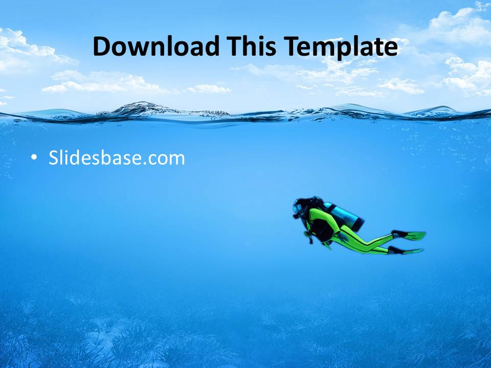 Underwater ocean powerpoint template slidesbase underwater sea life vacation ocean fish submarine diving toneelgroepblik Images